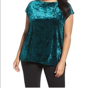 Vince Canute Crushed Velvet Top (Plus Size)